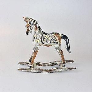 Cavalo de Balanço Branco M