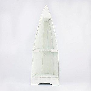 Prateleira Mini Barco Branco em Madeira
