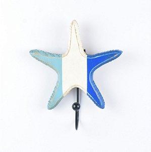 Cabideiro Estrela do Mar Azul e Branco