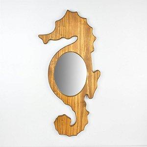 Espelho Cavalo Marinho Marrom