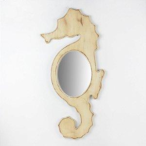 Espelho Cavalo Marinho Branco