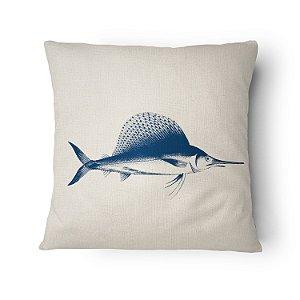 Almofada Náutica Peixe Marlin Blue