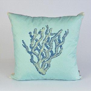 Almofada Náutica Azul Coral