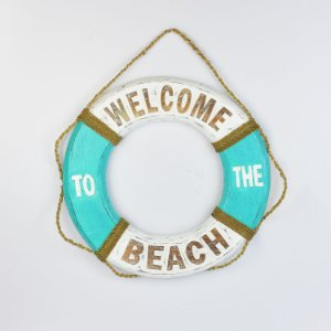 Bóia Welcome Beach Branco e Azul Tiffany M
