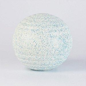 Enfeite Bola Decorativa Azul Claro e Branco em Cerâmica G
