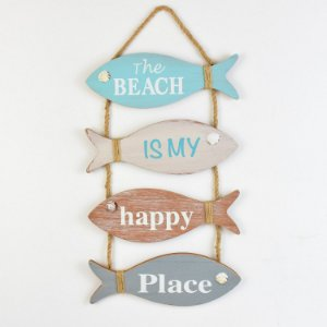 Placa Peixes Happy Place