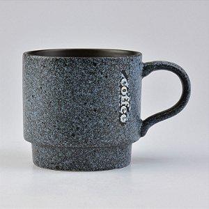 Caneca Modern Coffee Azul Granite