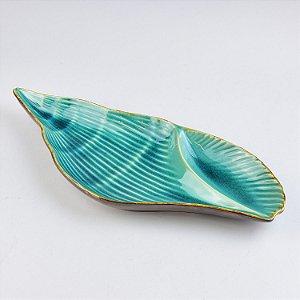 Petisqueira Concha Azul em Cerâmica
