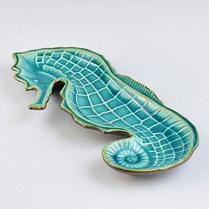 Petisqueira Cavalo Marinho em Cerâmica