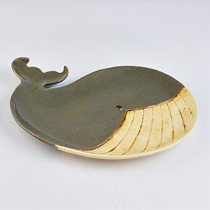 Petisqueira Baleia Cinza em Cerâmica