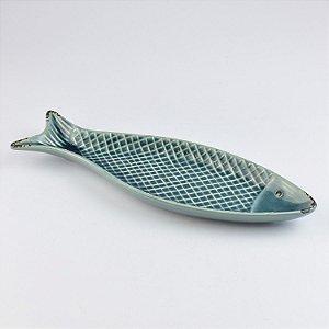 Petisqueira Peixe Azul em Cerâmica
