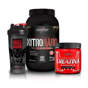 Kit Nitro Hard 907g + Creatina 300g + Coqueteleira