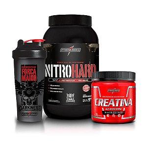 Kit Nitro Hard 907g + Creatina 300g + Coqueteleira