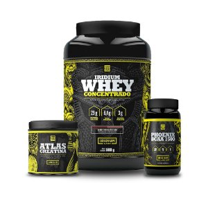 Kit Whey 900G + BCAA 90Caps + Creatina 150G - Iridium Labs