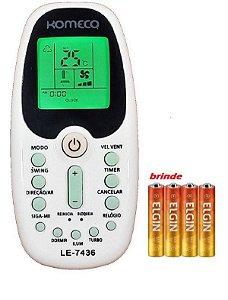 Controle Ar Condicionado Komeco Zh/kz-01 Zh/ez-01 +pilhas