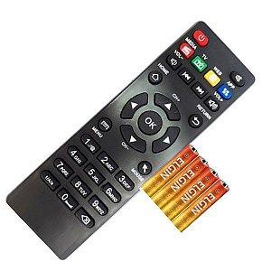 Controle Remoto Smart TV 4k Pro 4k +pilhas