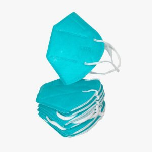 10x Máscara KN95 CORES Clip Nasal bfe 95% Respirador Verde 5 camadas