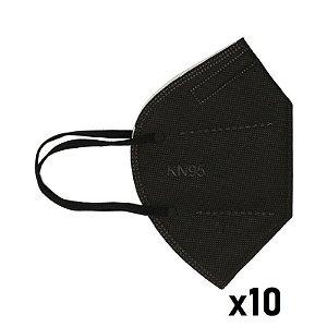 10x Máscara KN95 CORES Clip Nasal bfe 95% Respirador PRETA
