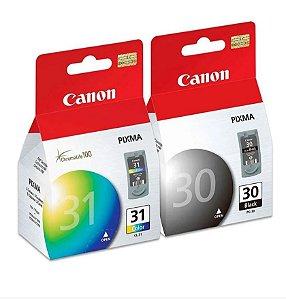 Combo Cartucho Original Canon Pg30 + Cl31 Black Color