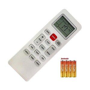 Controle Ar Condicionado Universal Philco PH9000IFM5 +pilhas