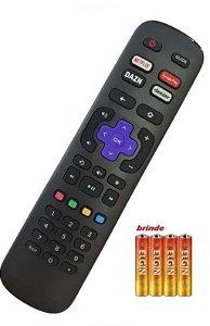 Controle Remoto Tv Roku Tv Aoc + 4 pilhas