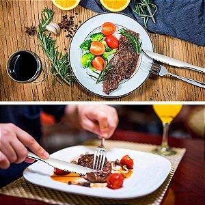 Jogo 12 Talheres De Inox Churrasco Mesa Cozinha Restaurante
