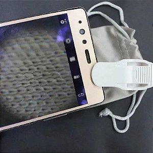 Mini Microscópio Lupa Portátil Câmera Zoom Led 60x Celular