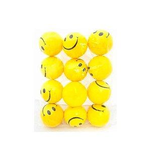 Kit 10 Bolinhas Amarela Smile Massagem Apertar Anti Stress
