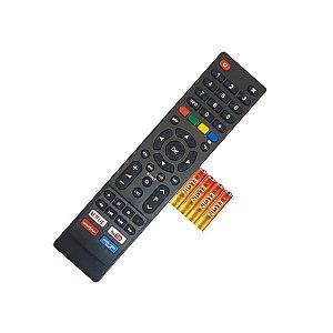 Controle Tv Remoto Todas Smart Philco PrimeVideo Netlix +pilha