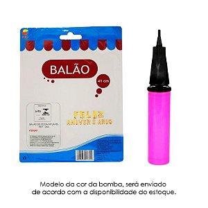 Kit 1 Mini Bomba Ar Inflar Bexiga + Balão Feliz Aniversário