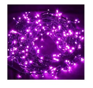 Pisca Pisca de Natal Led com 100 Lâmpadas Lilas 8 funções 220v Fio | Transparente