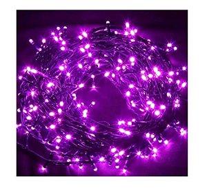 3x Pisca Pisca Natal Led 100 Lâmpadas Lilas 220v Fio Transparente