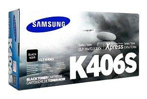 Toner Original Samsung Clt 406 k406S Black Clx 3300 3306 3186 Clp360 365 368 Clx3300 1K
