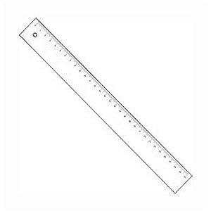 Regua 30cm transparente