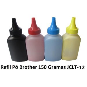 Refil Pó Toner 150Gg Jadi  Black P/ Brother Color Tn315 Tn311 Tn319 Tn210 Tn221 Tn225 JCLT-12