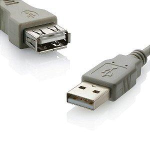 CABO EXTENSOR USB CINZA CLARO