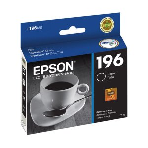 Cartucho Original Epson 196 Black T196120 T196 Preto XP401 XP411 WF2532 5ml