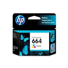 Cartucho Original HP 664 Colorido F6v28ab HP Deskjet 1115 2136 3636 4536 3635 3776 3788 4676 2ml