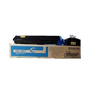 Toner Original Kyocera Tk-897 Tk897c Cyan | Kyocera Taskalfa 205c 255c 8520 | 6K