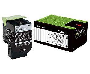 Toner Original Lexmark 708hk 70c8hk0 Black | Lexmark Cs310 Cs410 Cs510 | Rendimento: 4k