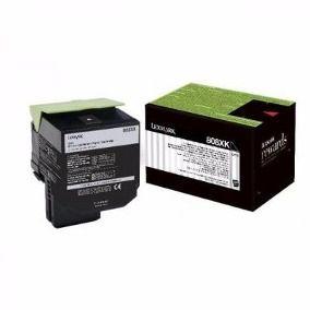 Toner Original Lexmark 808s 808 808Sk 80C8SK0 Black Cx310 Cx410 Cx510 Cx510 2.5K