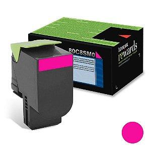 Toner Original Lexmark 808 808Sm 80C8SM0 MagentaCx310 Cx410 Cx510 2K