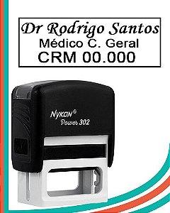 Carimbo Automático Nº20 (302) 14x38mm