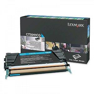 Toner Original Lexmark C736h1kg Black Lexmark C736 X734 X736 X738 | 12k