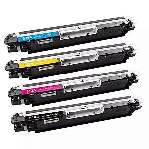 Kit 4 un Toner compativel Ce310 Cf350 Ce311 Cf351 Ce312 Cf352 Ce312 Cf353 K Y M C