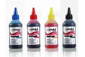 Kit 4 un Tinta Evolut  Ev-365 P/ Ecotank E Tanque Tinta Bulk Ink  | Epson K M C Y 100ml