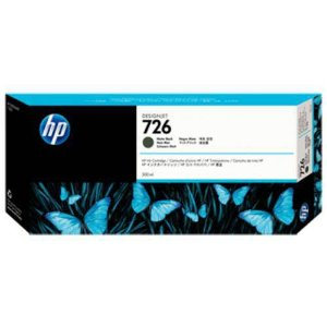 Cartucho Original HP Plotter Ch575a Hp 726 Preto Fosco T1200 T1300 T2300 300 Ml