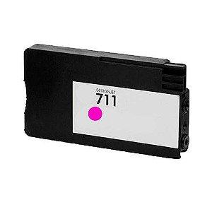 Cartucho Compatível   711 Magenta CZ131A T520 T120 CQ890A CQ891A CQ893A 28ml