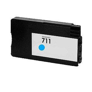 Cartucho Compatível  Hp 711 Cyan CZ130A T520 T120 CQ890A CQ891A CQ893A 28ml