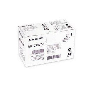 Toner Original Sharp MXC30NT-B MX-C30NT-B Black MX C250 C300 C300W C301W 6k